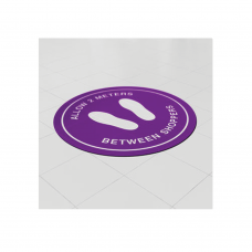 Removable Vinyl Floor Stickers - 1000mm Circle
