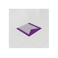 Removable Vinyl Floor Stickers - 500mm Square