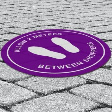 Exterior Vinyl Floor Stickers - 300mm Circle