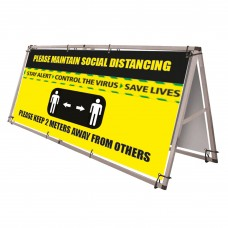 Outdoor Banner Frame - with banner(s)